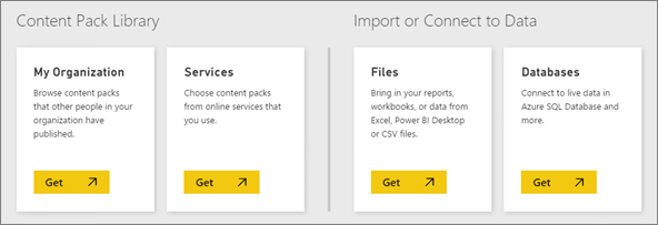 The Power BI application allows you to link your CRM to different data sources.