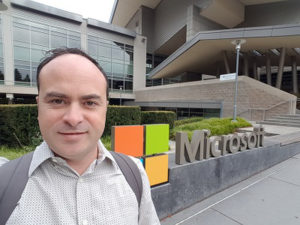 David Rivard on the Microsoft campus