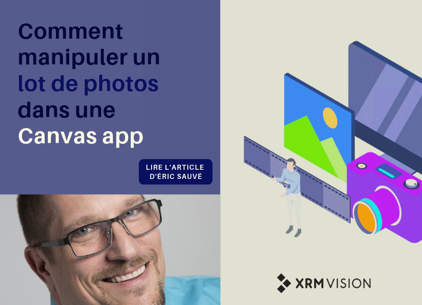 Comment manupuler un lot de photos dans une canvas app